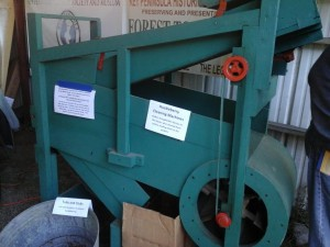Huckleberry Cleaning Machine on display by the Key Peninsula Historical Society at the 2015 KP Farm tour. The machine separated leaves and other debris  from the berries.
